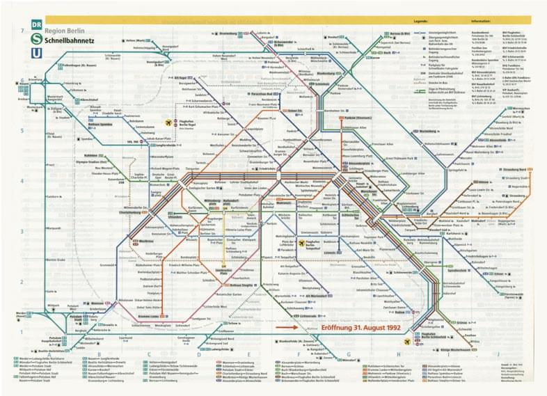 Berlin Subway Map Poster.New Berlin Rapid Transit Route Map